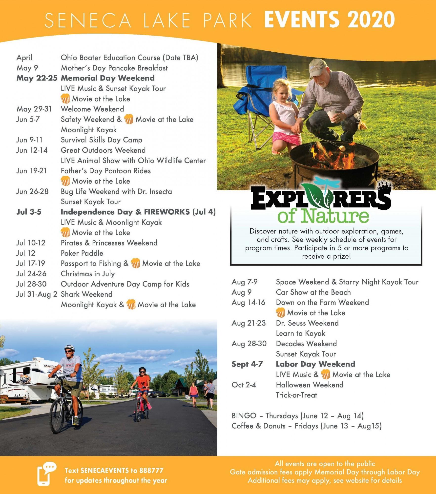 Seneca Lake Ohio Halloween 2020 2020 Event Schedule is Here!   MWCD