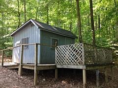 Patio camper cabins seneca lake park ohio for Seneca lake ohio cabins