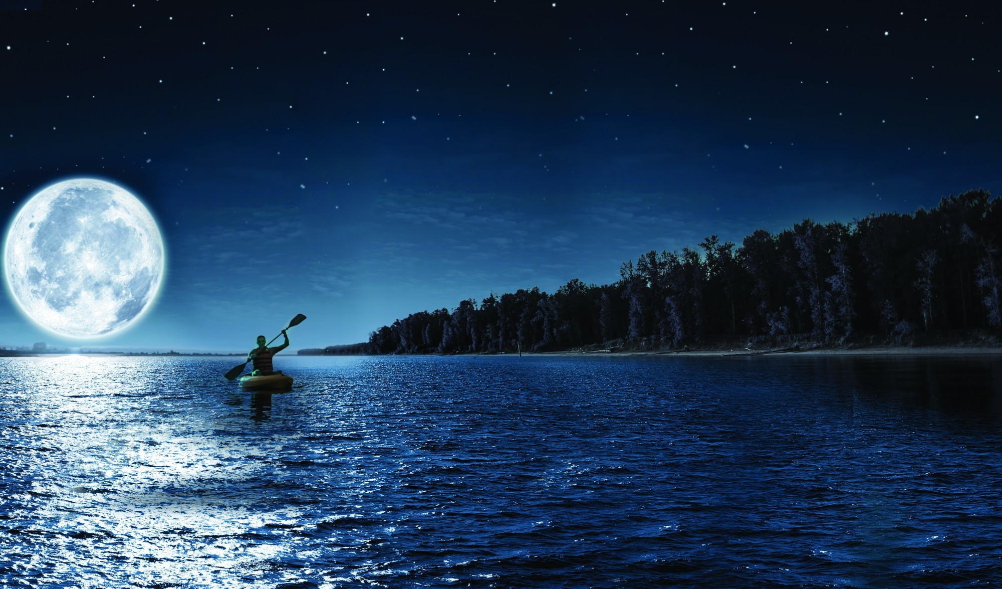 Moonlight Kayak at Seneca Lake Park