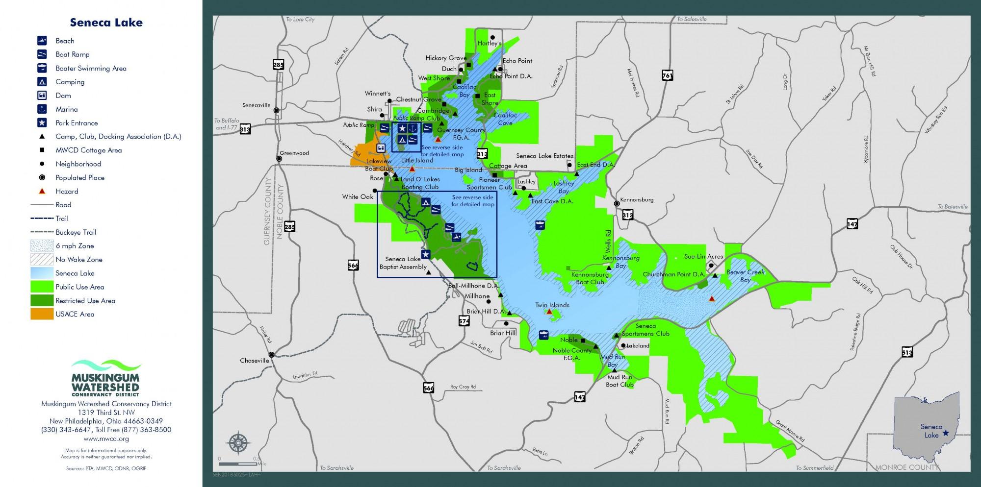 map of seneca lake Maps And Locations Seneca Lake Park Ohio map of seneca lake